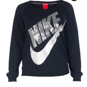 Nike rally crew sequin sweatshirt women's xl